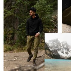Chinos Men Outfit, Teaching Mens Fashion, Indian Men Fashion, Men's Fashion, Olive Green Pants, Famous Singers, Basic Outfits, Photo Poses, Black Hoodie