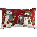 Snowman Family Pillow---Pier 1 Imports---future home Christmas Fair Ideas, Christmas Bags, Christmas Love, Christmas Stockings, Christmas Crafts, Christmas Decorations, Christmas Fonts, Christmas Applique, Christmas Sewing
