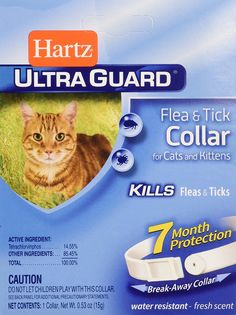 Hartz Flea and Tick Collar For Cats and Kittens, 1 CT (Pack of 6) * More info could be found at the image url. (This is an affiliate link and I receive a commission for the sales)