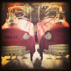 Pedal car fire trucks! Sad face pedal cars! IG #78ham