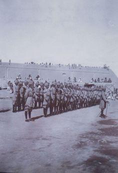 North Waziristan Militia, Miranshah, North West Frontier of India. Photograph taken by Eustace Jotham probably 1913.