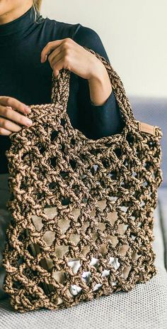 Awesome and Cool Crochet Bag Pattern Design Ideas Part crochet bag tutorial; Crochet Tote, Knit Crochet, Easy Crochet, Free Crochet, Pattern Images, Pattern Design, Bag Sewing, Manta Crochet, Tote Pattern