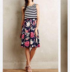 Split print dress -anthropologie $198