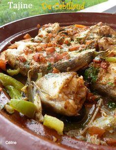 Tajine de Cabillaud à la Marocaine Food L, Good Food, Shellfish Recipes, Cordon Bleu, Couscous, Fish And Seafood, Food And Drink, Pork, Nutrition