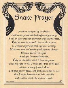 Snake Prayer