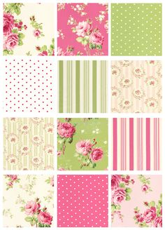 Barefoot roses by Tanya Whelan - I would love this green fabric in my bedroom