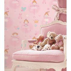 Kinderzimmer Tapete Ballerinas rosa