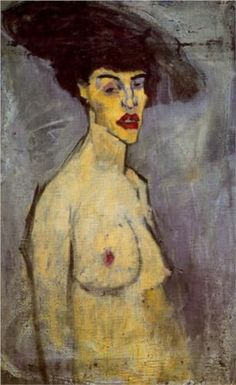 Female nude with Hat - Amédéo Modigliani ______________________________ ♥♥♥ deniseweb.free.fr ♥♥♥