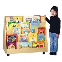 Classroom Library Display - Double-Sided Two sides and 10 shelves provide lots of book-browsing opportunities!