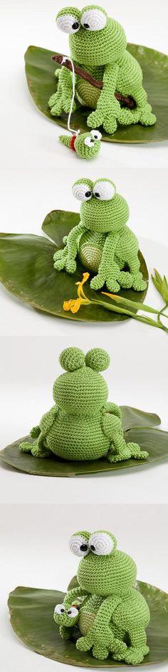 Kobe And Kenji Frog Amigurumi Pattern