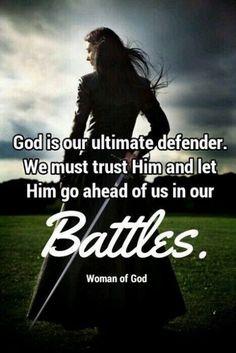 God is our ultimate defender. Spiritual Warrior, Prayer Warrior, Spiritual Warfare, Faith Quotes, Bible Quotes, Bible Verses, Scriptures, Scripture Study, Women Of Faith