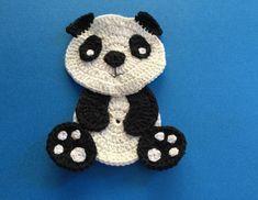 Finished crochet panda landscape