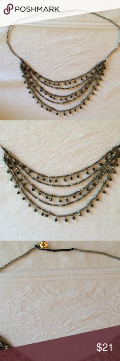 J Jill Bronzed Cascading Necklace Lowest price on Poshmark. Multi-Strand necklace with dangle beads. NWOT. Beautiful and on trend. J. Jill Jewelry Necklaces