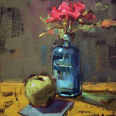 cathleen rehfeld • Daily Painting: Last Roses