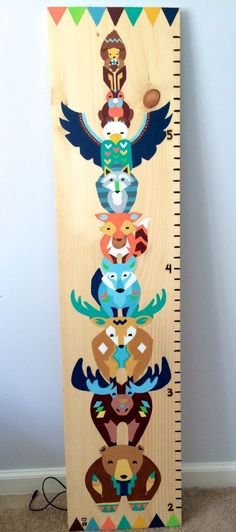 Hand painted baby growth chart by Kelsey Rowland etsy.com/shop/createdbykelseyart