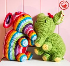 Free Elephant Crochet Pattern - Whimsical Striped and Solid Versions