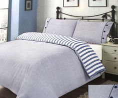 Stylish Striped Duvet Cover Set with Pillowcases - Single, Double, King Size