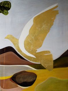 Gold Dove  75cm x 100cm  Acrylic on canvas