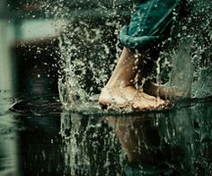 I love the rain and I love jumping in puddles.