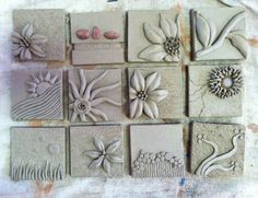 relief clay Tiles | Art Projects