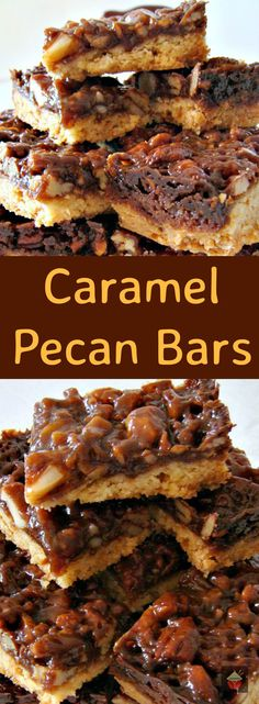 Let me introduce to you Jeanette! Here, Jeanette has made Caramel Pecan Bars. Anyone who loves caramel and pecans will be in heaven when you take a bite of one of these bars! Fall Recipes, Beef Recipes, Cookie Recipes, Dessert Recipes, Recipies, Yummy Recipes, Delicious Desserts, Yummy Food, Pecan Bars