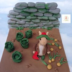 CPC Beatrix Potter cake collaboration Benjamin Bunny  by Daisycupcake