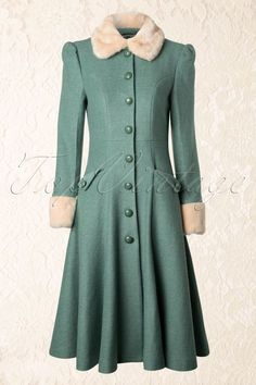 34 Ideas For Vintage Fashion Style Inspiration Coats Vintage Coat, Looks Vintage, Vintage Style, Coat Dress, The Dress, 1940s Fashion, Vintage Fashion, Vintage Dresses, Vintage Outfits