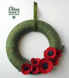 Remembrance wreath for poppy day? Remembrance Day Remembrance wreath for poppy day? Remembrance Poppy, Remembrance Sunday, Wreath Crafts, Felt Crafts, Poppy Wreath, Poppy Craft, Crochet Wreath, Armistice Day, Remember Day