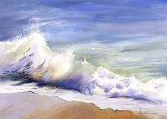 """""""The Wave""""  watercolor by Maud Durland"""