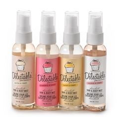 be Delectable from Cake Beauty 4-pc. Hair and Body Mist Gift Set