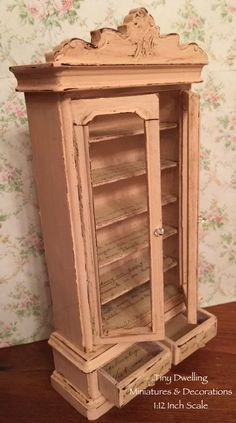 RESERVED..Miniature Armoire 1:12 Dollhouse by TinyDwelling on Etsy