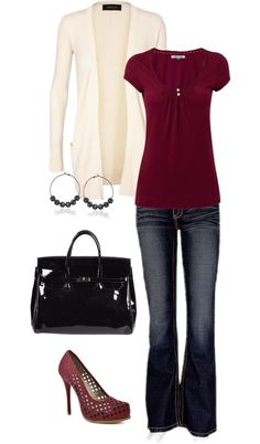 """Berrys and Cream"" by lindsey-ellis on Polyvore- I love this but in a cheaper version"
