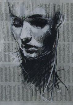 charcoal drawings on cardboard - Google Search