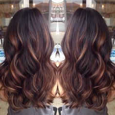 Chocolate brown with highlights