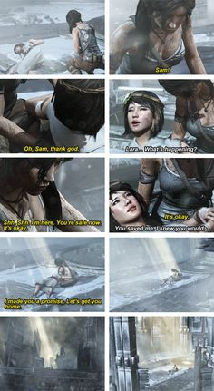 Tomb Raider (2013) - Lara x Sam » Rescue