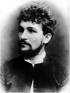 A young Leos Janacek (1854-1928); Czech composer and music pedagogue.