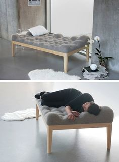German designer Stefanie Schissler created a day bed with a bumpy surface named Kulle.