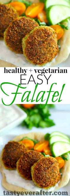 My family always wants me to make these easy Falafels for meatless Monday! We love them :)(Vegetarian Recipes Easy) Vegetarian Recipes Easy, Mexican Food Recipes, Cooking Recipes, Healthy Recipes, Dinner Recipes, Vegetarian Cooking, Healthy Falafel Recipe, Vegetarian Lunch, Appetizer Recipes