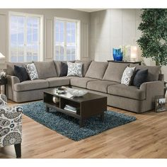 Value City Furniture® Cordoba 2-Piece Sectional + Cocktail Ottoman from Value City Furniture $999.98 (23% Off) - | Home Ideas | Pinterest | City furniture ... : cordoba 2 piece sectional - Sectionals, Sofas & Couches