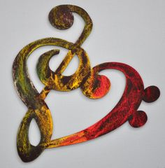 Musicality Wooden heART Rasta by everlastingdoodle on Etsy