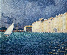 Paul Signac (French, 1847-1935), Saint-Tropez, the Storm, 1895. Oil on canvas, 47 x 55 cm
