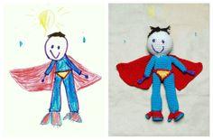 Creative toy from Your Kids drawing von YarnBallStories auf DaWanda.com