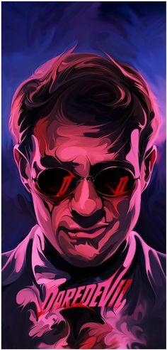 "Daredevil - Joe Vetoe ---- The Poster Posse Celebrates The Release of the Marvel/ Netflix Series ""Daredevil"" With A Blinding Tribute Marvel Comics, Marvel Heroes, Marvel 2099, Marvel Universe, Comic Books Art, Comic Art, Charlie Cox, Thanos Avengers, Mundo Comic"