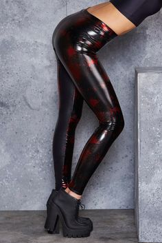 Death By Disco New Slicks Leggings - LIMITED ($109AUD) by BlackMilk Clothing