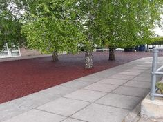 When installed in one solid colour, rubber mulch can give an area a modern feel - whilst still preserving the natural aesthetic.