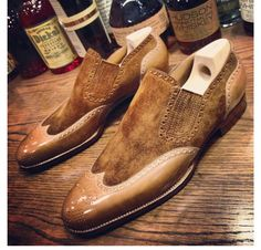 St Crispin's Brown Suede And Leather Combination Shoes.....