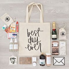Possible items to include in your Wedding Welcome bags!