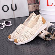 e4ab6791b49 Women flats 2018 summer breathable mesh women loafers sewing decor women  flat shoes white pisos de mujeres