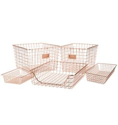 New bathroom storage bins wire baskets 33 ideas Rose Gold Rooms, Rose Gold Decor, Desk Storage, Bathroom Storage, Paper Storage, Storage Baskets, Closet Storage, Kitchen Storage, Wire Storage