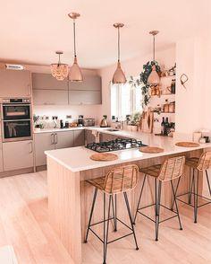 Kitchen Inspiration Design, Kitchen Inspirations, Interior Design Kitchen, Home Decor Kitchen, Kitchen Furniture Design, Kitchen Room Design, Home Kitchens, Kitchen Remodel Small, Kitchen Design Small